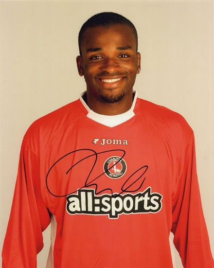 Darren Bent, Charlton Athletic, signed 10x8 inch photo.
